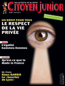 Citoyen Junior n° 29 - Mars 2013